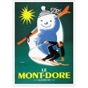Affiche - Le bonhomme de neige - Le Mont-Dore