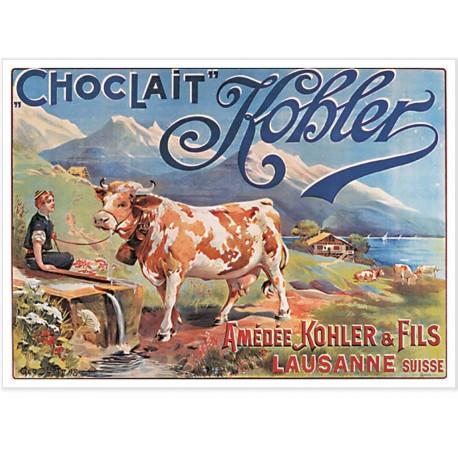 Affiche - Vache - Choclait Kohler