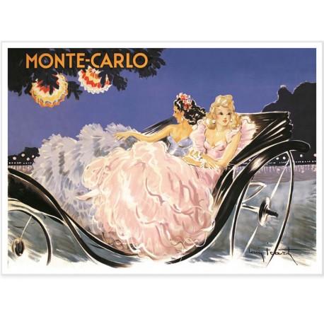 Affiche - Monte-Carlo - Promenade en calèche - Ville de Monte-Carlo