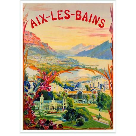 Affiche - Paysages d'Aix-les-Bains - PLM