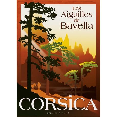 Affiche 50x70 - Aiguilles de Bavella en Corse