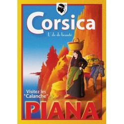 Affiche 50x70 - Visitez les Calanques en Corse