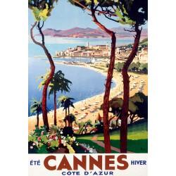 Poster 30x40 - Cannes Été hiver