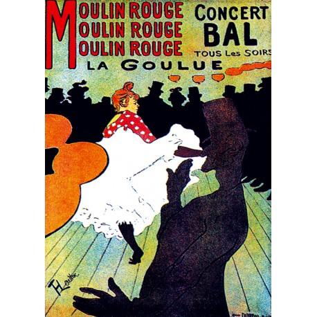 Affiche 50x70 - La Goulue