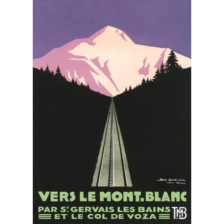 Affiche 50x70 - Vers le Mont-Blanc au Crépuscule