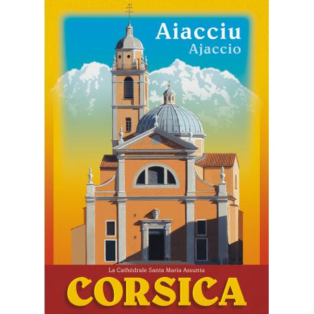 Affiche 50x70 - Cathédrale Santa Maria Assunta à Ajaccio