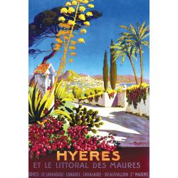 Affiche 50x70 - Hyères et le Littoral des Maures
