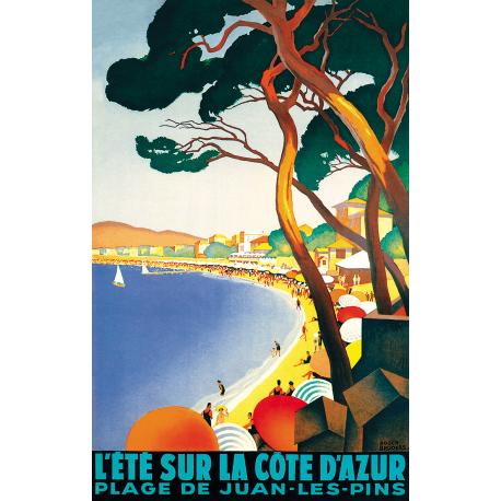 Affiche 50x70 - L'Été à Juan-les-Pins