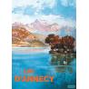 Affiche 50x70 - L'Île aux Cygnes à Annecy