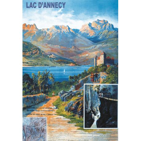 Affiche 50x70 - Le Château d'Annecy