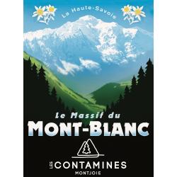 Affiche 50x70 - Le massif du Mont Blanc