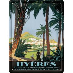 Plaque métal 30x40 - Les Palmiers Hyères