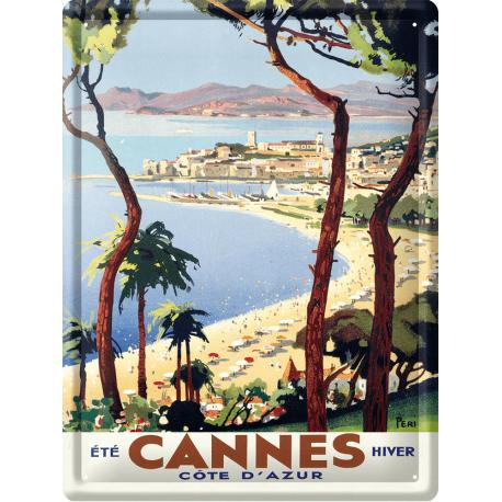Plaque métal 30x40 - Cannes Été Hiver