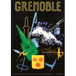 Affiche 50x70 - Symboles de Grenoble