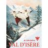 Affiche 50x70 - Sauteurs à ski à Val d'Isère