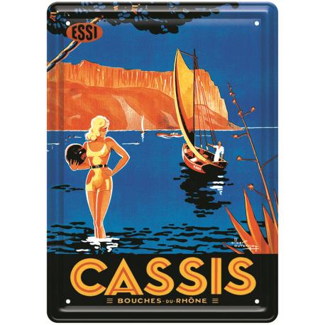 Plaque métal - Scène d'été - Cassis