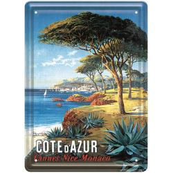 Plaque métal - Cannes Nice Monaco