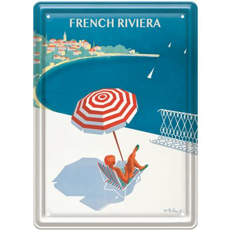 Plaque métal - Côte d'Azur - La French Riviera