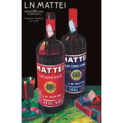 Affiche 50x70 - Mattei l'Apéritif Corse