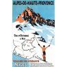 Affiche 50x70 - Ski dans la Vallée de l'Ubaye
