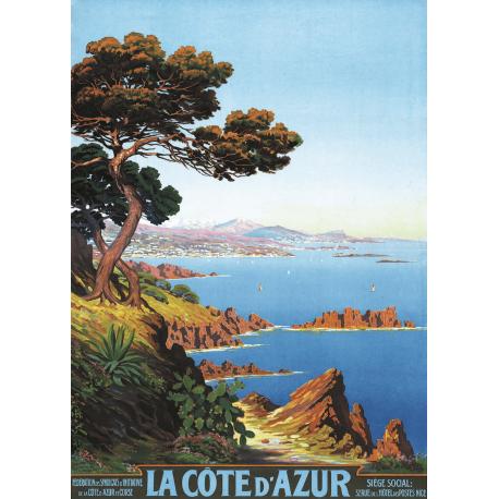 Affiche 50x70 - Littoral de la Cote d'Azur