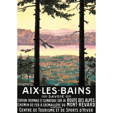 Affiche 50x70 - Aix les Bains vue d'en haut