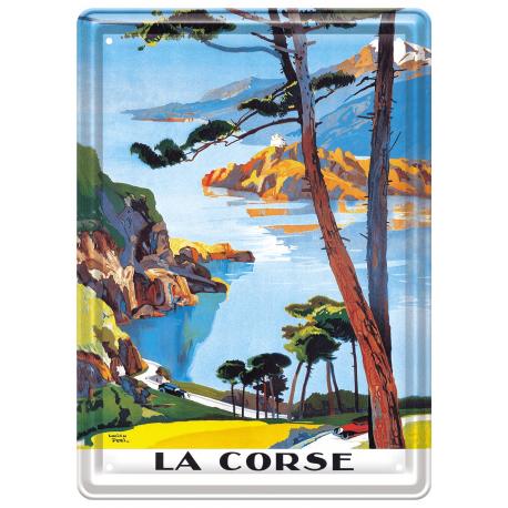 Plaque métal 15x21 - Balade en Corse