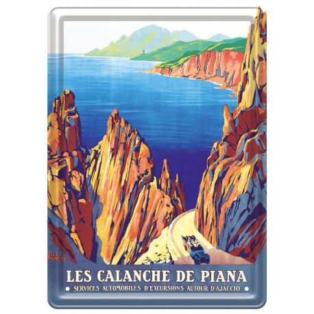 Plaque métal 15x21 - Calanche de Piana