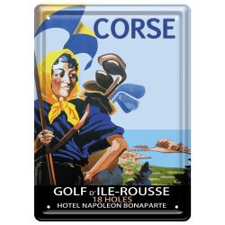 Plaque métal 15x21 - Golf d'Ïle Rousse