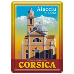 Plaque métal 15x21 - Cathédrale Santa Maria Assunta à Ajaccio
