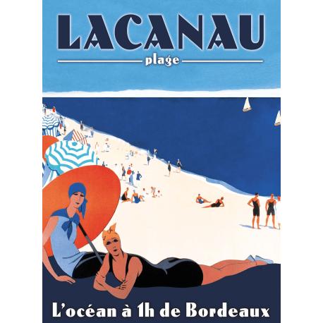 Affiche 50x70 - Lacanau Plage