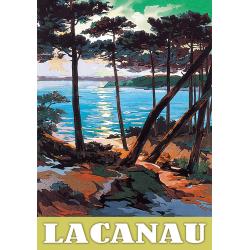 Affiche 50x70 - Lacaneau Vue sur Mer