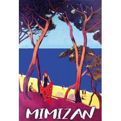 Affiche 50x70 - L'Océan à Mimizan