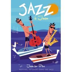 Affiche 50x70 - Jazz à Juan