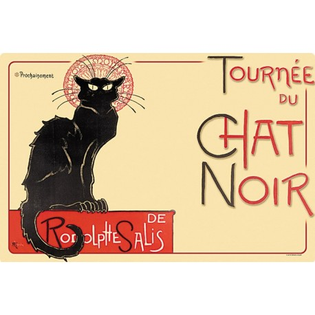 Grand Cabas Paris Chat Noir Souvenirs de France Noir