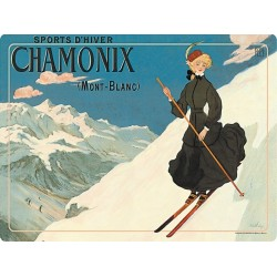 Set - La skieuse Chamonix
