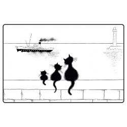 Set - Trois chats sur le mur