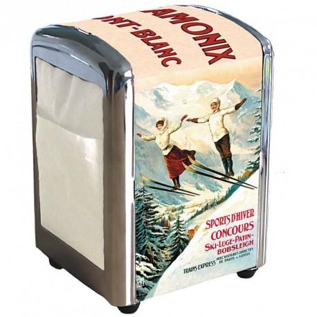Distributeur de serviettes - Les deux sauteurs - Chamonix - PLM
