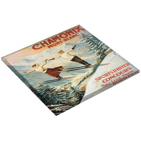 Dessous de plat - Les deux sauteurs - Chamonix - PLM
