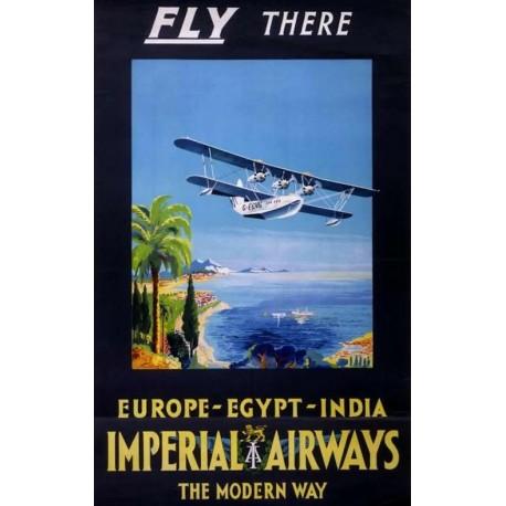 Affiche - Avion (fin de série) - Impérial Airways