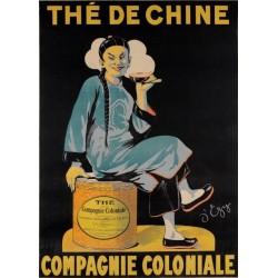 Affiche - Thé de Chine (fin de série) - Compagnie Coloniale