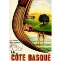 Affiche - Les golfs de la côte basque