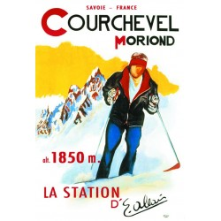 Affiche - Courchevel - Émile Allais (fin de série) - Ville de Courchevel