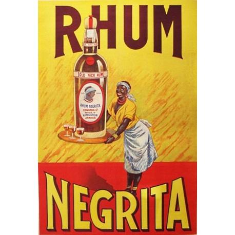 Affiche - Serveuse (fin de série) - Rhum Negrita