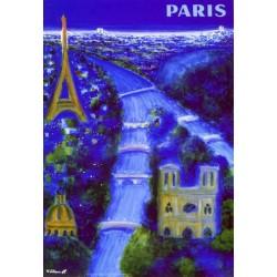 Affiche - Paris - La Seine (rupture définitive)
