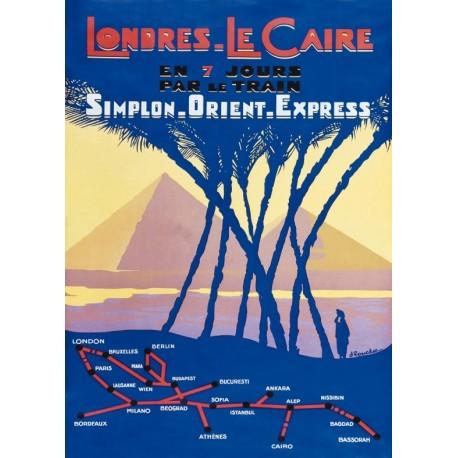Affiche - Le Caire - Les Pyramides (fin de série) - Orient-Express