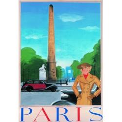 Affiche - Paris L'Obélisque du Louxor (rupture définitive)