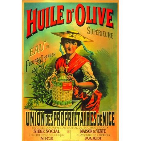 Affiche - Huile d'olive chapeau (fin de série) - Union des propriétaires de Nice