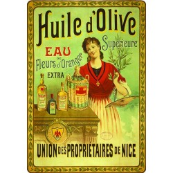 Affiche - Huile d'olive tête nue (fin de série) - Union des propriétaires de Nice
