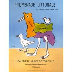Affiche - Trouville - Promenade littorale (fin de série) - Musée de Trouville